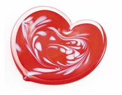 Glass Eye Art Glass Affection Heart Red