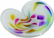 Glass Eye Art Glass Affection Heart White