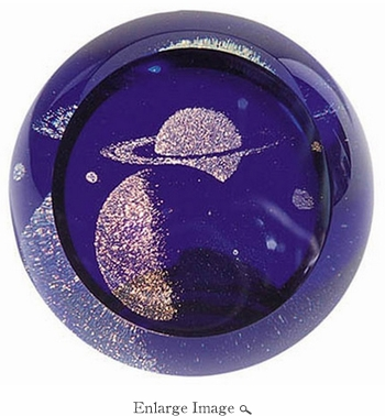 Glass Eye Art Glass Celestial Saturn
