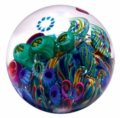 Glass Eye Art Glass Cool Pool Environmental Series Paperweight