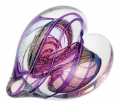 Glass Eye Art Glass Heart of Fire Amethyst