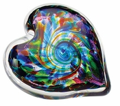 Glass Eye Art Glass Heart of Fire Anniversary
