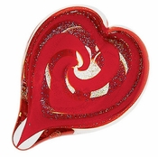 Glass Eye Art Glass Heart of Fire Scarlet