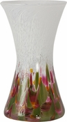 Glass Eye Art Glass Hourglass Vase Tulip Mosaic