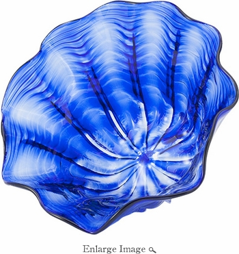 Glass Eye Art Glass Large Floppy Bowl Cobalt
