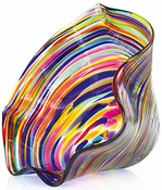 Glass Eye Art Glass Mini Floppy Bowl Fiesta