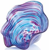 Glass Eye Art Glass Mini Floppy Bowl Violet Twist