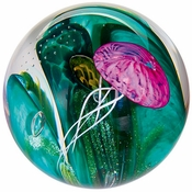 Glass Eye Art Glass Phantom of the Sea Environmental Series Paperweight