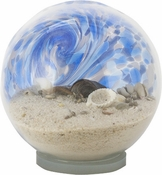 Glass Eye Art Glass Sea Globe Large Blue