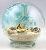 Glass Eye Art Glass Sea Globe Large Green
