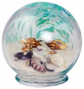 Glass Eye Art Glass Sea Globe Small Green