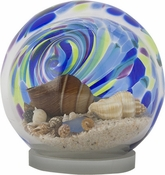 Glass Eye Art Glass Sea Globe Small Island