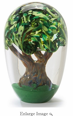 Glass Eye Art Glass Tree of Life Environmental Series Paperweight