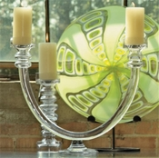 Global Views  2 Lite Glass Tube Candelabra