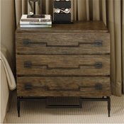 Global Views 3 Drawer Wide Chest-Dark Brushed Mango
