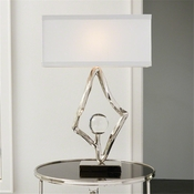 Global Views Abstract Lamp-Nickel