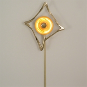 Global Views Abstract Reflector Sconce-Brass