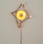 Global Views Abstract Reflector Sconce-Copper