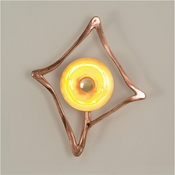 Global Views Abstract Reflector Sconce-Hardwired-Copper