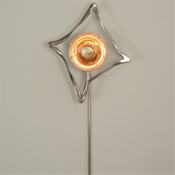 Global Views Abstract Reflector Sconce-Nickel