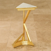Global Views Abstract Side Table-Brass