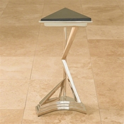 Global Views Abstract Side Table-Nickel