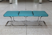 Global Views Airline Bench-Aqua