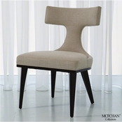 Global Views Anvil Back Dining Chair-Covered in Muslin