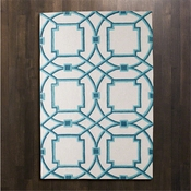Global Views Arabesque Rug-Aqua-5' x 8'