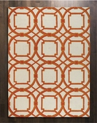 Global Views Arabesque Rug-Coral-6' x 9'