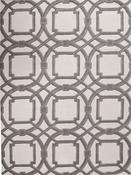 Global Views Arabesque Rug-Grey/Ivory-5' x 8'