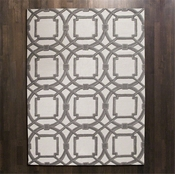 Global Views Arabesque Rug-Grey/Ivory-8' x 10'