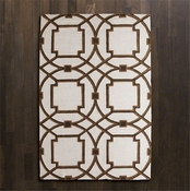 Global Views Arabesque Rug-Mocha-5' x 8'