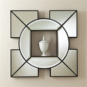 Global Views Arabesque Shadow Box Mirror
