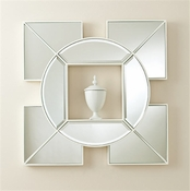 Global Views Arabesque Shadow Box Mirror-White