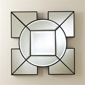 Global Views Arabesque Square Mirror-Black