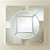 Global Views Arabesque Square Mirror-White