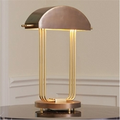Global Views Arc Deco Table Lamp-Brass/Bronze