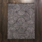 Global Views Arches Rug-Black/Ivory-6' x 9'