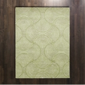 Global Views Arches Rug-Green/Ivory-5' x 8'