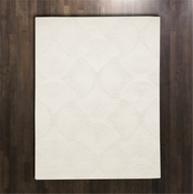 Global Views Arches Rug-Ivory/Ivory-5' x 8'