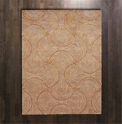 Global Views Arches Rug-Rust/Ivory-5' x 8'