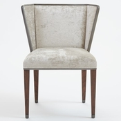 Global Views Argento Chair - Silver Crushed Velvet