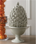 Global Views Artichoke Lidded Urn-Putty
