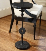 Global Views Artisan Square Peg Accent Table