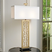 Global Views Axe Lamp-Brass/Bronze