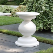 Global Views Balustrade Stool-Matte White