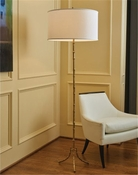 Global Views Bamboo Floor Lamp-Brass
