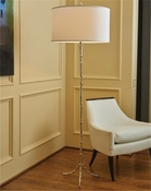Global Views Bamboo Floor Lamp-Nickel