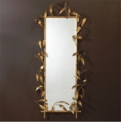 Global Views Bamboo Mirror w/Gold Finish